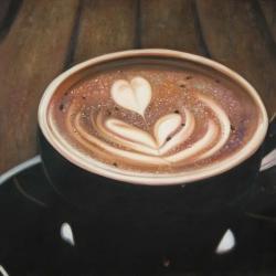 Artistic cappuccino