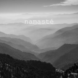 Namaste monochrome