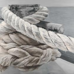 Twisted boat rope