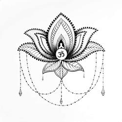 Ornament lotus ethnic
