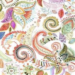 Watercolor paisley floral