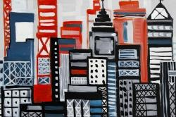 Geometric urban landscape