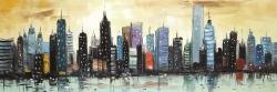 Horizon du paysage urbain abstrait
