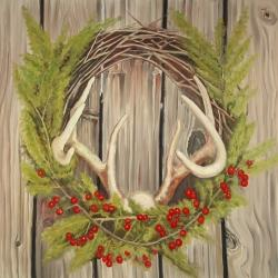 Christmas wreath with panache