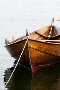 Rowboat on calm water