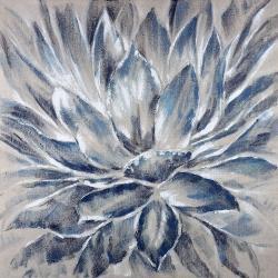 Fleur grise et bleue