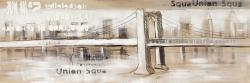 Abstract bridge with typography