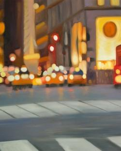Blurred view of new york