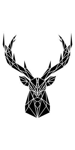 Geometric deer head