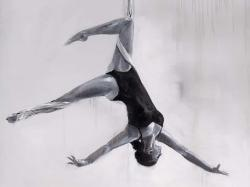 Dancer on aerial silks