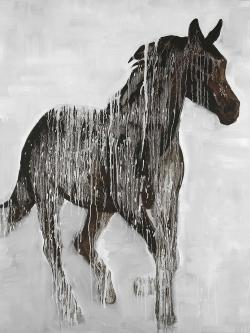 Abstract brown horse