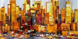 Orange buildings