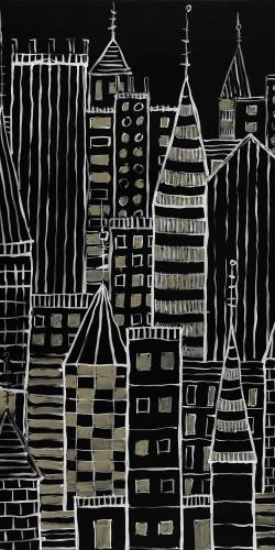 Illustrative dark city