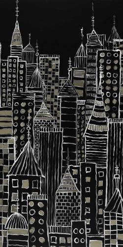 Illustrative city towers