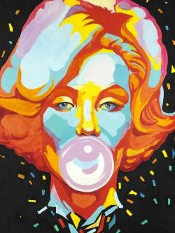 Colorful maryline monroe bubblegum