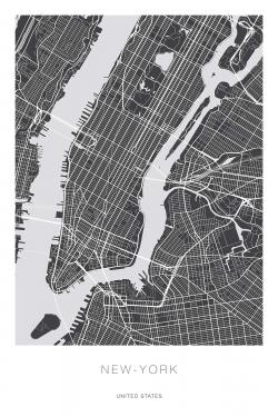 New york graphic map