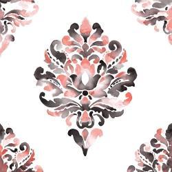 Coral baroque ornament