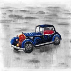 Vintage blue toy car
