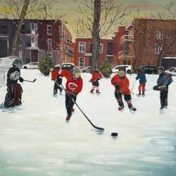 Jeunes joueurs de hockey