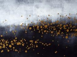 Two shades of gray with gold dots