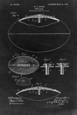 Black blueprint of a foot ball