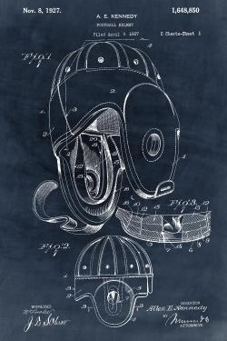Blueprint football helmet