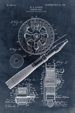 Blueprint of a fishing reel