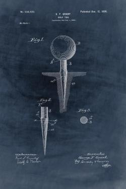 Blueprint of golf tee