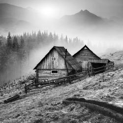 Mountain carpathian village