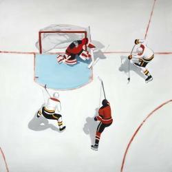 Partie de hockey mouvementé
