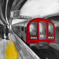 Attente du métro