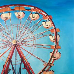 Ferris wheel by a beautiful day