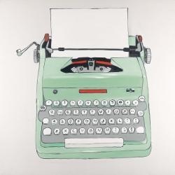 Machine à écrire menthe
