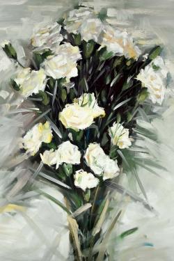 Lisianthus white bouquet