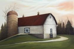 White barn view
