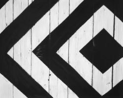 Rhombus on wood