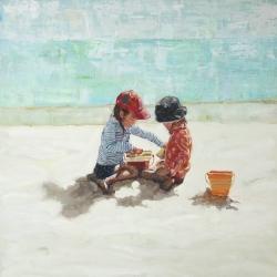 Little girls at the beach