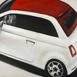 Italian red and white car