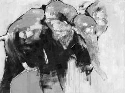 Monochrome abstract elephant