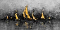 Gold sailboats