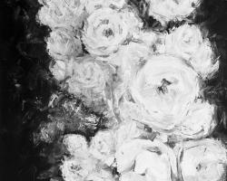 Monochrome rose garden