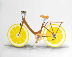 Lemon wheel bike