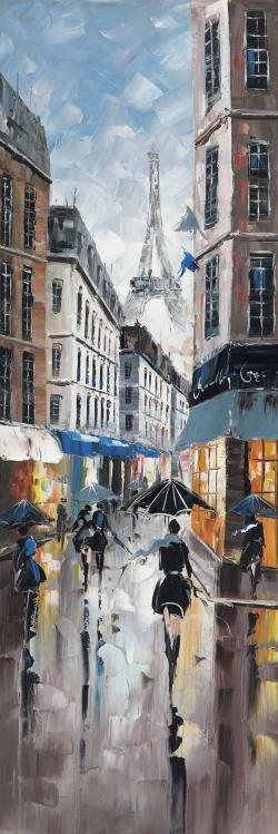 Paris street blue