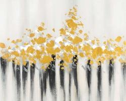 Abstract gold flowers