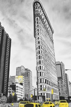 Outline of flatiron building to new-york