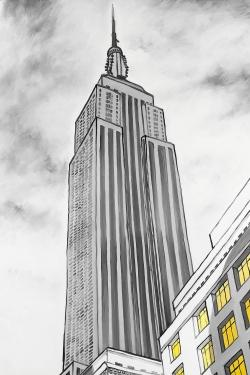 Outline of empire state building