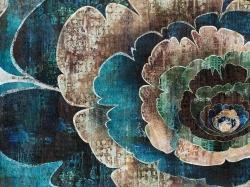 Blue flower montage