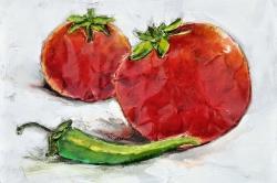 Tomatoes with jalapeño