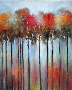 Abstract and colorful forest