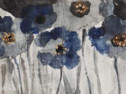 Blue blurry flowers